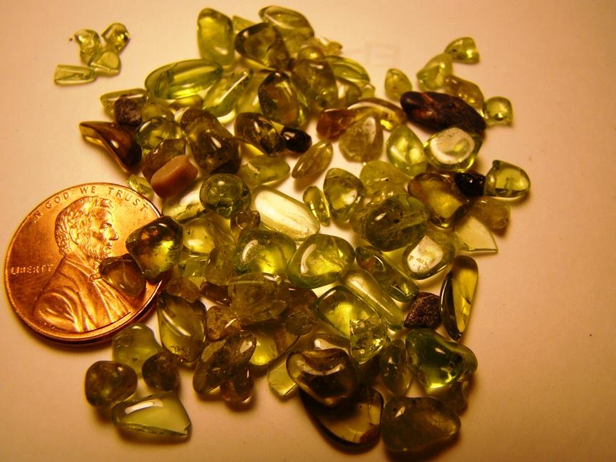 Polished Olivine Basalt : Minerals