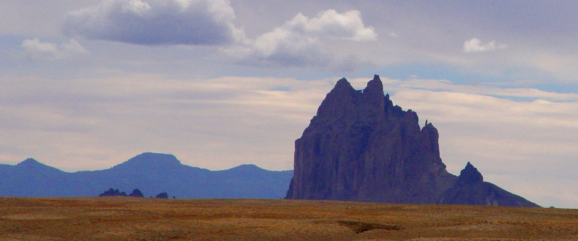 Shiprock, New Mexico, a volcanic neck